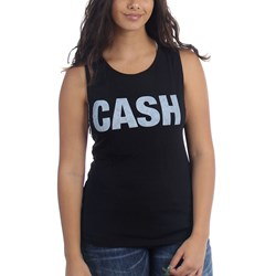 Johnny Cash - Womens Cash Faded Tank Top