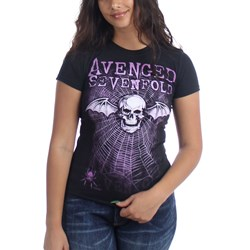 Avenged Sevenfold Weaved Junior's T-Shirt