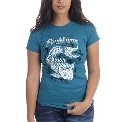 Sublime Koi Teal Junior's T-Shirt