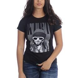 Kurt Cobain Cobain w/Shades Junior's T-Shirt