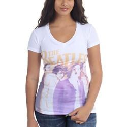 The Beatles - Womens Band Profile Jr V-Neck T-Shirt