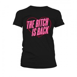 Elton John - Womens The Bitch Is Back Heart T-Shirt