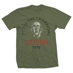 Queen - Mens Queen Distressed T-Shirt