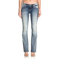 Miss Me - Womens L3343B Low Rise Boot Cut Jeans