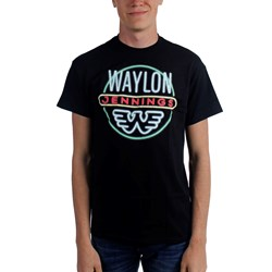 Waylon Jennings - Mens Neon T-Shirt