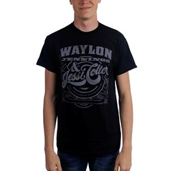 Waylon Jennings - Mens Waylon Jennings & Jessi King & Queen T-Shirt