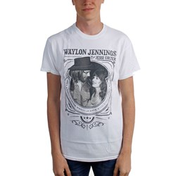 Waylon Jennings - Mens Waylon and Jesse Good Timin T-Shirt