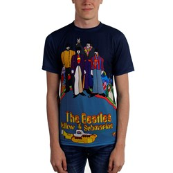 Beatles, The - Mens Yellow Sub Sublimated T-Shirt