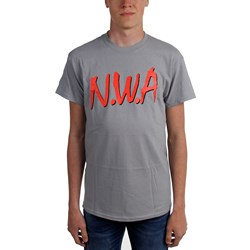 N.W.A. - Mens Logo Charcoal T-Shirt