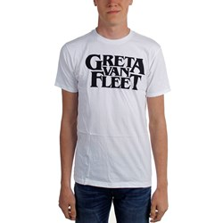 Greta Van Fleet - Mens Logo White T-Shirt