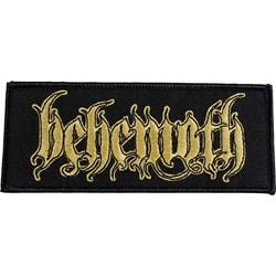 Behemoth - Unisex Logo Patch Gold Border