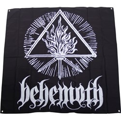 Behemoth - White Sigil Flag 48 x 48 Fabric Poster