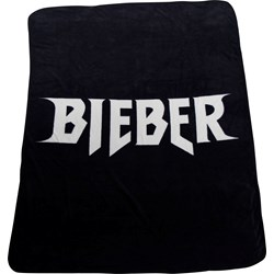 Justin Bieber - Unisex-Adult Logo Fleece Blanket