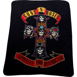 Guns N Roses - Unisex-Adult Cross Fleece Blanket
