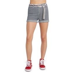 Dickies Girl - Belted Hickory Mom Short