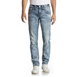 Rock Revival - Mens Xanthos Alternative Straight Jeans