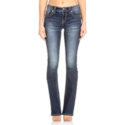 Miss Me - Womens Mid Rise M3442B Chloe Boot Jeans