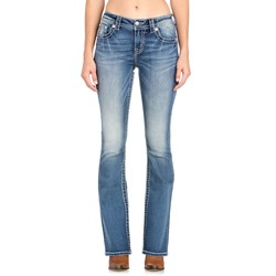 Miss Me - Womens Mid Rise M3403SB Slim Boot Jeans