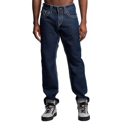 True Religion - Mens Ricky Flap Big T W Contrast Straight Jeans