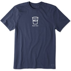 Life Is Good - Mens Half Full Vintage Crusher T-Shirt