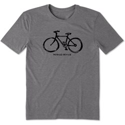 Life Is Good - Mens Mobile Device Bike Cool T-Shirt