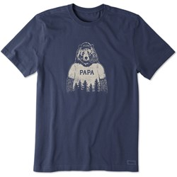 Life Is Good - Mens Papa Bear Crusher T-Shirt