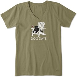 Life Is Good - Womens Dog Days Crusher T-Shirt