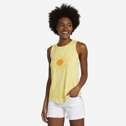 Life Is Good - Womens Flip Flop Sun High-Low Crusher T-Shirt