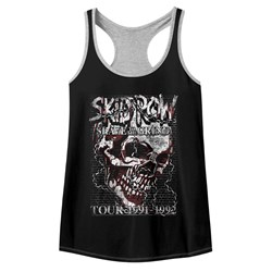 Skid Row Womens Skull Chain Racerback Tank Top