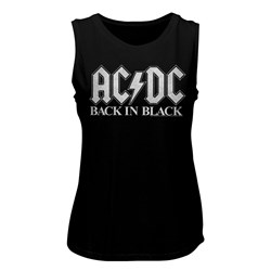 Ac/Dc - Womens Back In Black 2 Muscle Tank Top