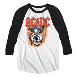 Ac/Dc - Mens Vintage Fly On Wall Baseball Tee
