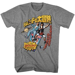 Bill And Ted - Mens Swoopy Japanese Text T-Shirt
