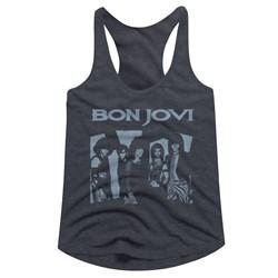 Bon Jovi - Womens Bluejovi Racerback Top