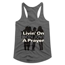 Bon Jovi - Womens Livin On A Prayer Racerback Top