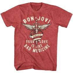 Bon Jovi - Mens Bad Medicine T-Shirt
