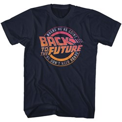 Back To The Future - Mens Logo&Quote T-Shirt