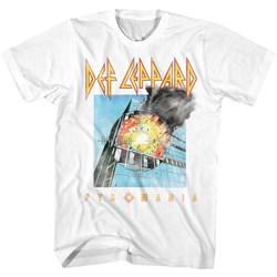 Def Leppard - Mens Faded Pyromania T-Shirt
