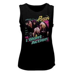 Poison - Womens Bright Action Muscle Tank Top