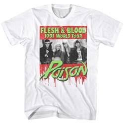 Poison - Mens Flesh Blood T-Shirt