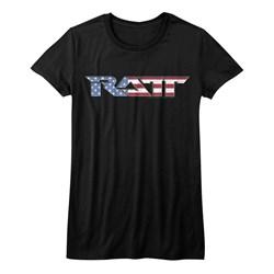 Ratt - Girls Flag Logo T-Shirt