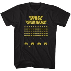 Space Invaders - Mens Yellow Print T-Shirt