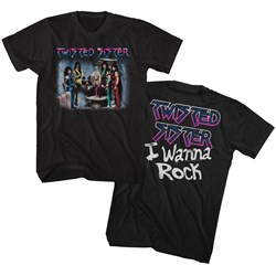 Twisted Sister - Mens I Wanna Rock T-Shirt