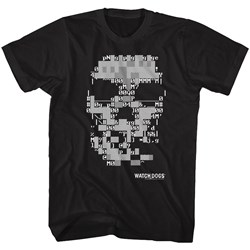 Watchdogs - Mens Ascii Skull T-Shirt