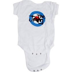 The Jam - Baby Target Logo White Babygrow Onesie