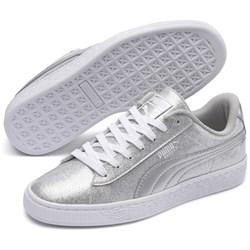 PUMA - Unisex-Child Basket Metallic Shoes