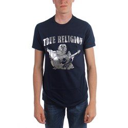 True Religion - Mens Silver Buddha Ss Crew Neck T-Shirt