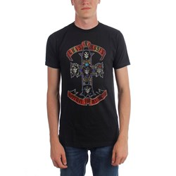 Guns n Roses - Mens Distressed Cross T-Shirt