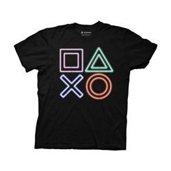 Playstation - Mens Playstation Neon Icons T-Shirt
