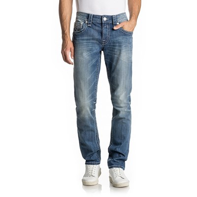 Rock Revival - Mens Xanthos A4 Alternative Straight Jeans