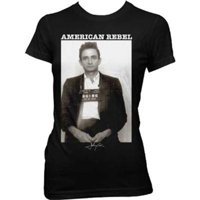 Johnny Cash - Womens Mug Shot T-Shirt